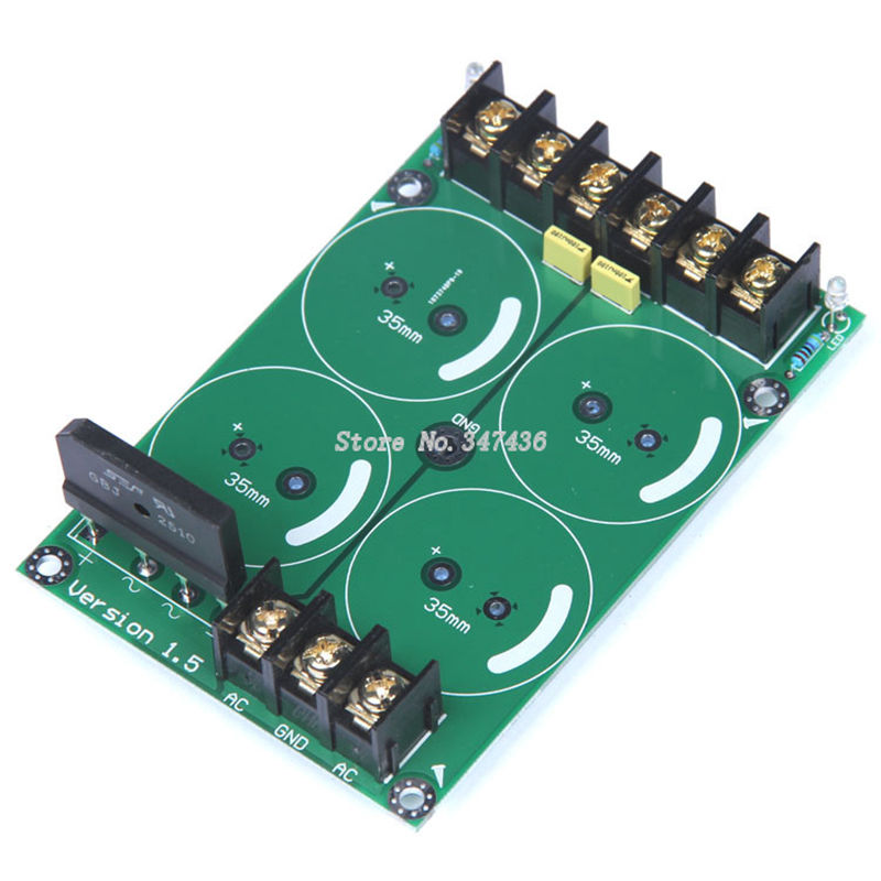 High power amplifier single bridge rectifier filter power supply ...
