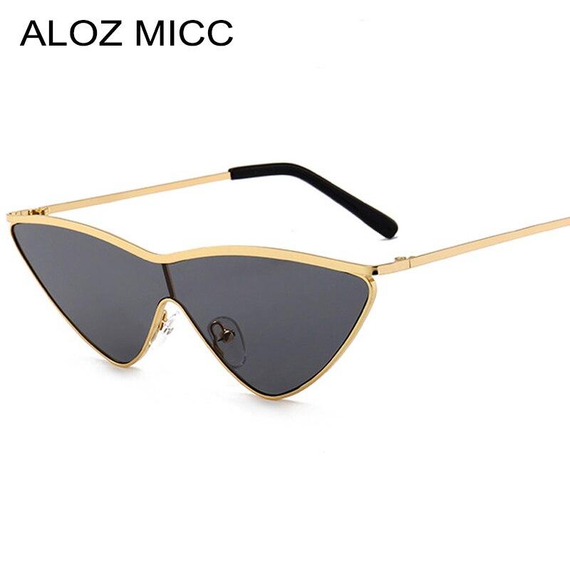 Women's Glasses Apparel Accessories Aloz Micc Brand Women Siamese Lens Cat Eye Sunglasses Hot Luxury Men Alloy Frame Triangle Eyeglasses Uv400 Q151