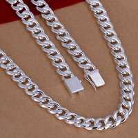 Men S Jewelry 24 Inchs 60cm 10mm Silver Plated Necklace 115g Solid Snake Chain N011 Gift