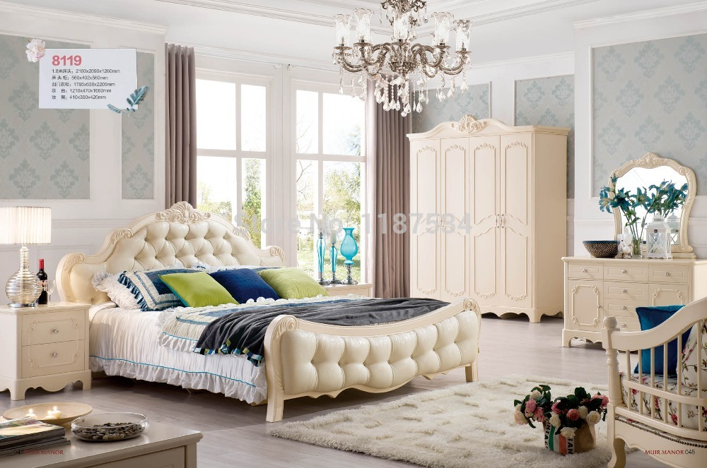 8119 Wholesale price furniture manufacturer factory price double bed ...