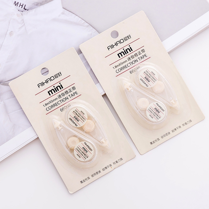 2pcs/lot Correction Tape 1.8m Cute Clear Corrector Mini Tape Roller Kids Stationery