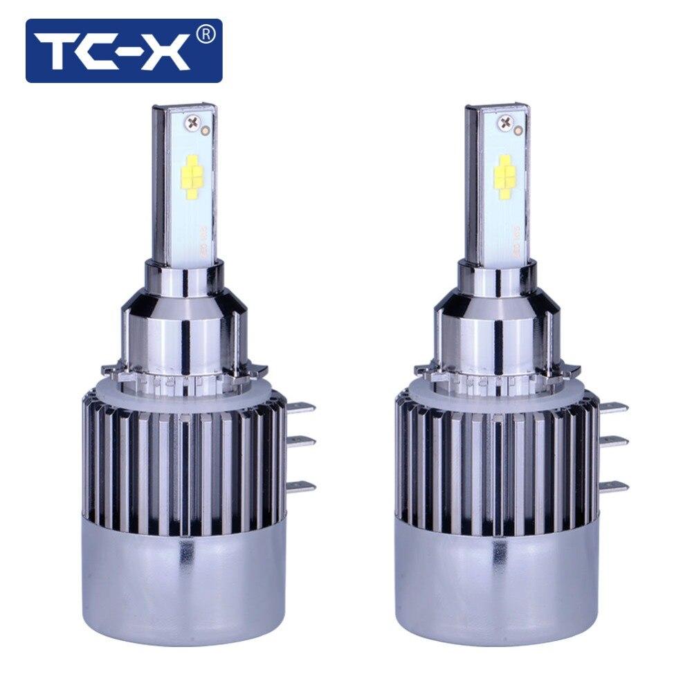 TC-X 2 шт. H15 светодиодные фары лампа Conversion Kit 12 В огни автомобиля 6000 К Вождение лампы DRL дневного света для Audi VW Golf7