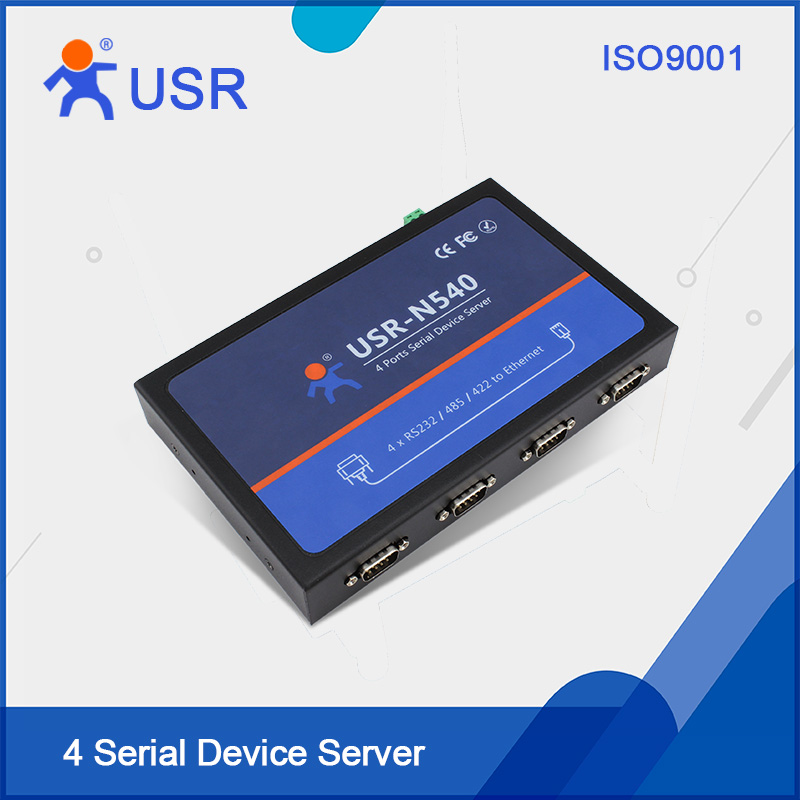 USR-N540 RS232 Serial rj45 converters 4 ports Serial RS232 RS485 RS422 to Lan Ethernet support Modbus TCP with CE FCC RoHS