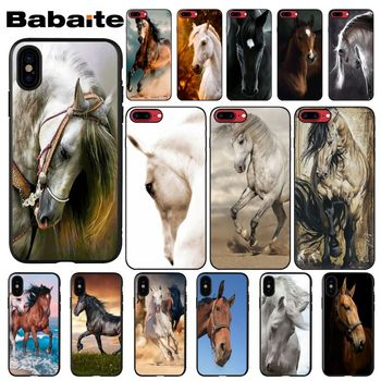 Babaite Horse Animal Pattern TPU Soft Phone Accessories Phone Case for Apple iPhone 8 7 6 6S Plus X XS MAX 5 5S SE XR Cellphones image