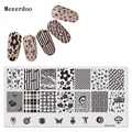 Nail Art Stamping Plates 6x12cm Steel Raindrop Lattice Design Nail Stamp Image Template Manicure Decoration Stencils Mezerdoo38
