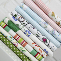 1.5m width pastoral flowers thick cotton canvas fabric for curtain sofa Pillow tablecloth