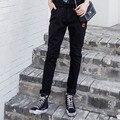 5XL Plus Size Women Denim Jeans Long Trousers Black Casual Slim Elastic Stretched Pencil Pants Elastic Waist Jeans MYNZ84