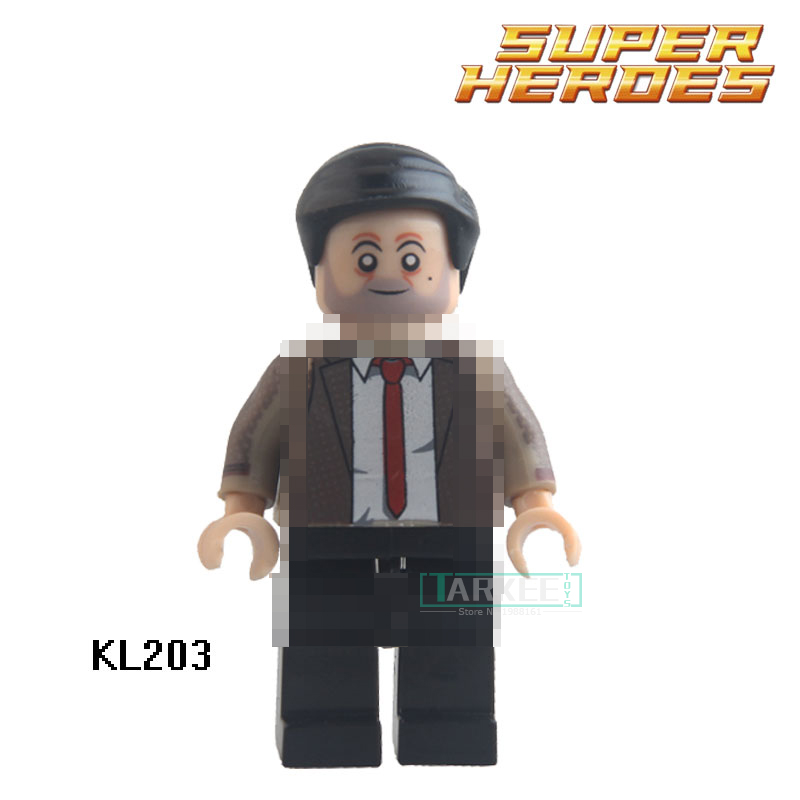 Educational Blocks Mr bean Action Figures Super Heroes Star Wars Building Bricks Children Kids DIY Collection Toys Gift KL203 super heroes batman the scuttler building blocks new year gift diy figures toys for children compatible lepins 3d model