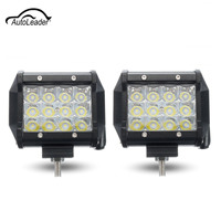 72W 5Inch LED Light Bar Car Work Light Spot Light Lamp For Motorcycle Driving Offroad Boat