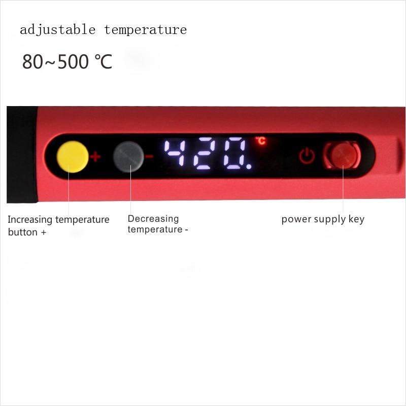 60W 220V DS60S lituoklis reguliuojamos temperatūros elektrinis - Suvirinimo įranga - Nuotrauka 5