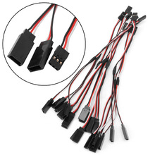 10Pcs 150mm Y Style RC Extension Servo Wire Lead Cord Cable For JR Futaba 15cm New