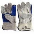 Doble capa de piel de vaca resistente al desgaste guantes de soldadura guantes suministros laborales envío gratis