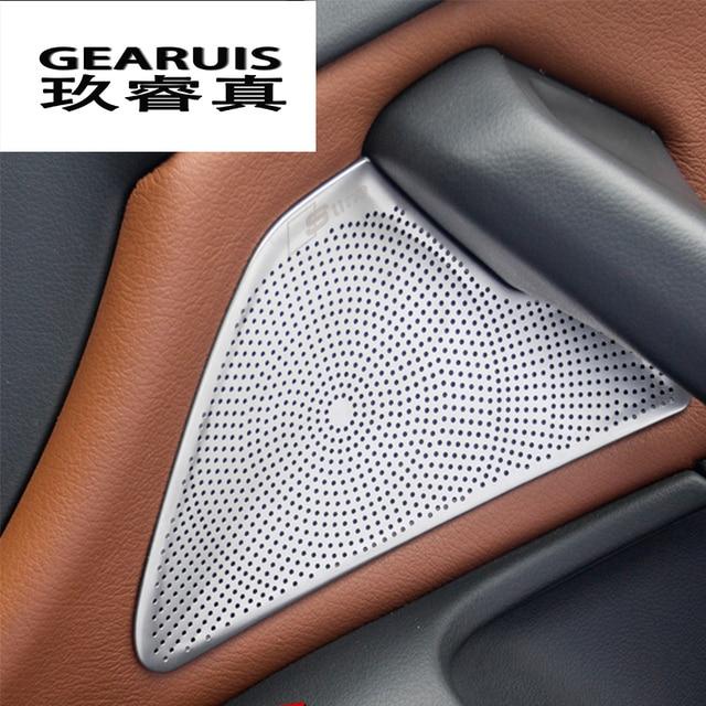 4Pcs Car styling Car Door panel speaker decoration ring car ...