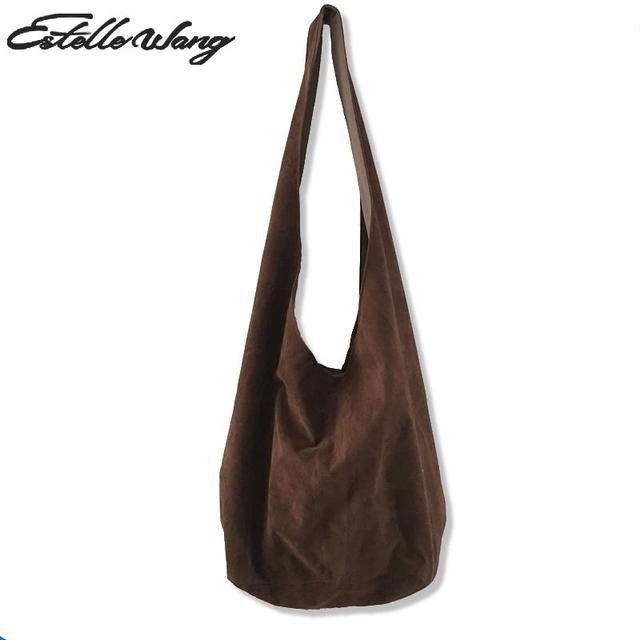 Estelle Women Cotton Crossbody Bag Oblique Cross Flannelette Single Large Capacity Shoulder Retro Dumpling