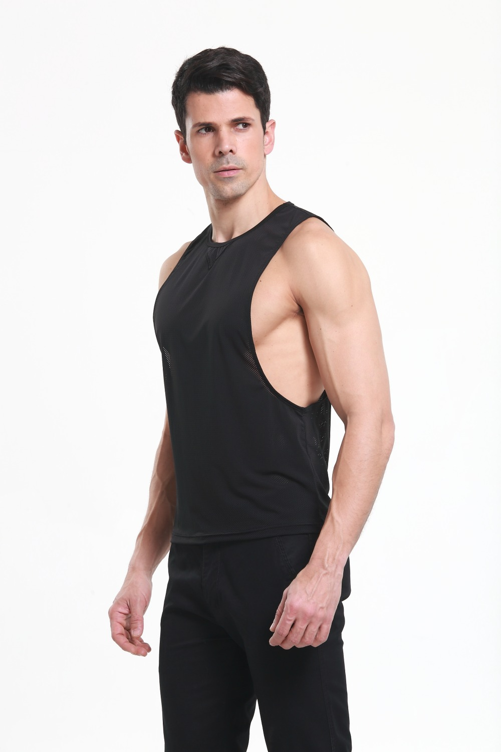 a7806128f3ef3 New mens summer net open side loose nylon slim fit men gyming tank tops  clothing bodybuilding