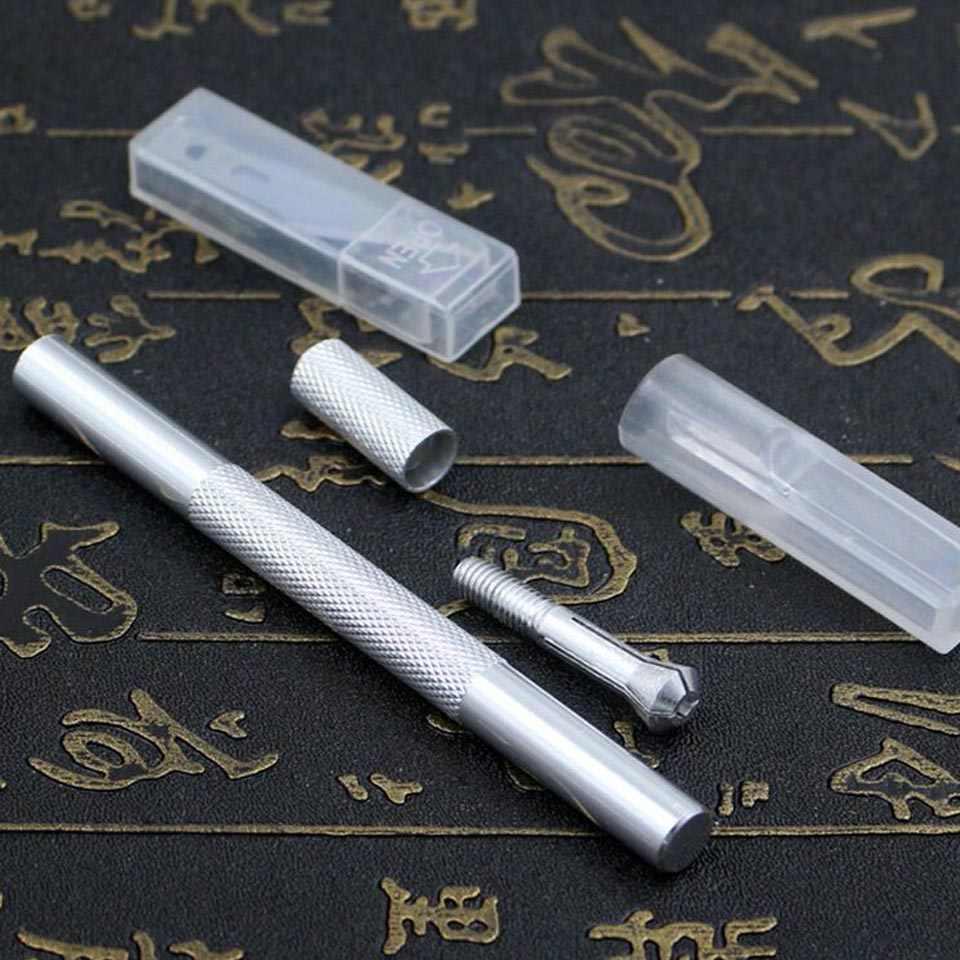 9 قطعة مقبض معدني مشرط ، شفرة سكين الخشب الة قطع الورق الحرفية القلم السكاكين ، النقش DIY بها بنفسك الأدوات اليدوية