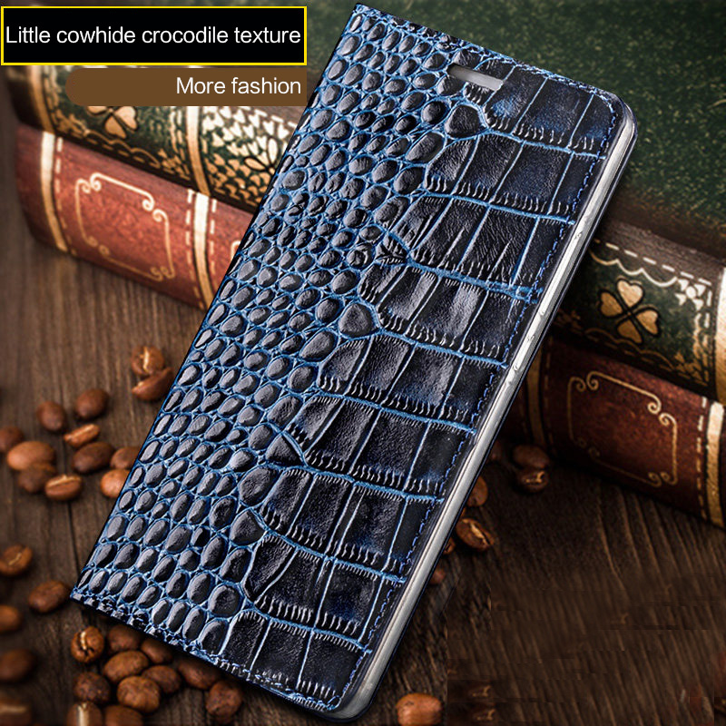 for Samsung S9 S8 c8 Plus galaxy S7 edge case leather crocodile plain business flip custom shell For Samsung Note 8 case