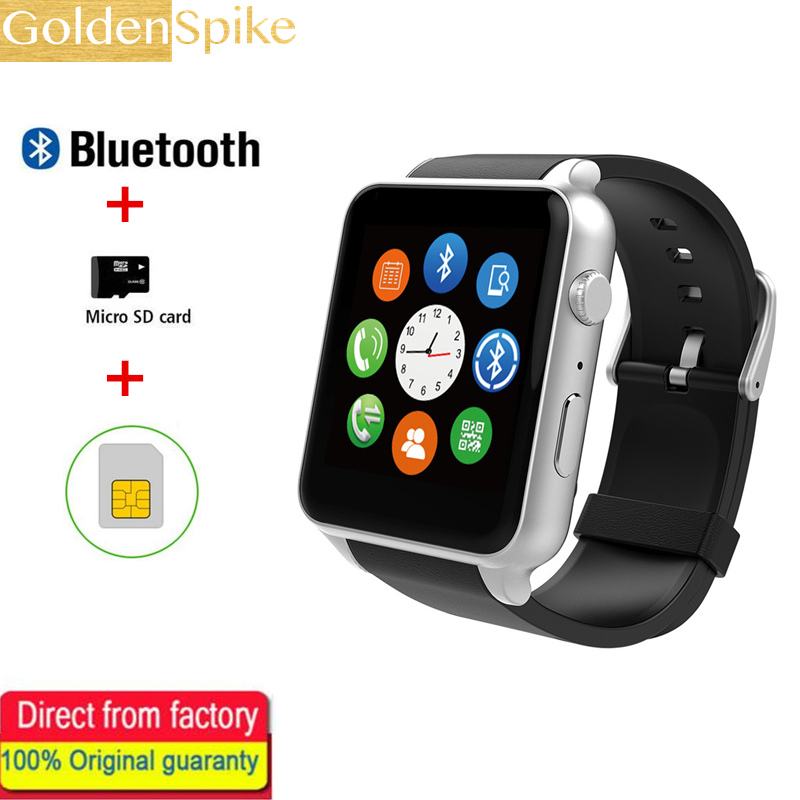 GOLDENSPIKE SIM Card Bluetooth Sports Smart Watch GT88 with Heart Rate Monitor Smartwatch Camera for Android iOS pk kw88 k88h dm2018 smart watch android gps sports 4g smartwatch phone 1 54 inch bluetooth heart rate tracker monitor pedometer pk kw88 dm98