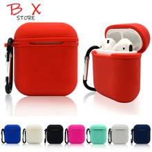 Soft Silicone Case For Airpods For Air Pods Shockproof Earphone Protective Cover Waterproof for iphone 7 Headset  apple airpods
