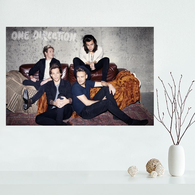 Hot Sale Custom One Direction Canvas Poster Home Decor Poster Print creative mural art More Size Best Gift
