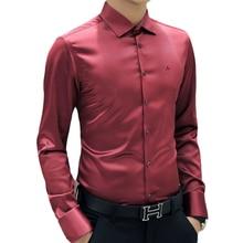 DUDALINA Good Quality 100%Cotton Men Shirts Top Brand Fashion Shirt Long Sleeve Casual Dress Shirts Slim Fit Imported-China 5XL