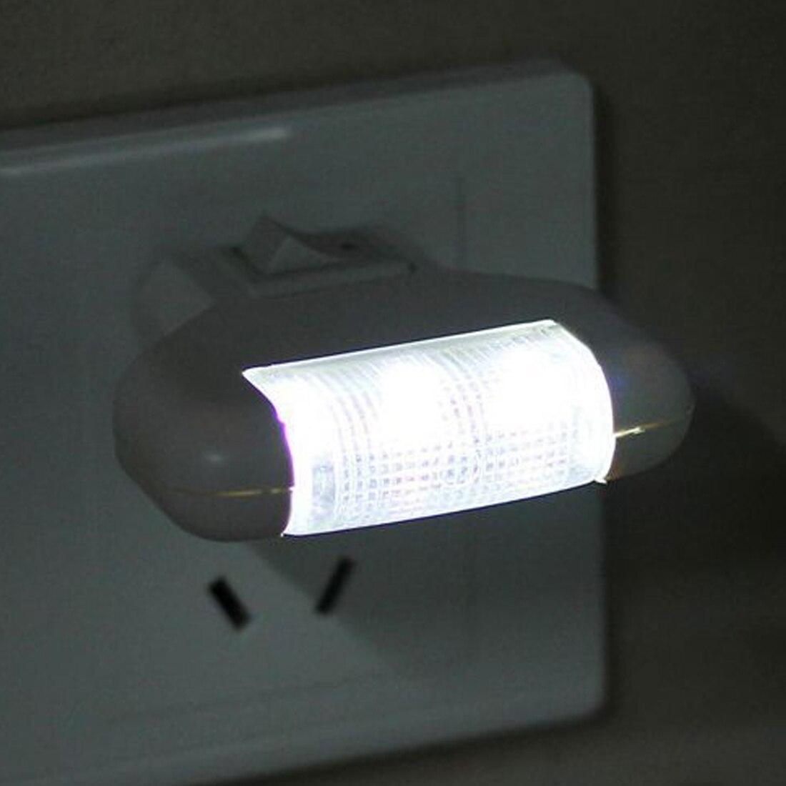 1pc LED Night Light 3 LED Eye Protect Wall Mounted Home Lighting Emergency Light LED T-type Plug-in