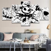5 Pieces Modern Home Decor Movie The Nightmare Before Christmas Jack Poster Wall Art Canvas Painting Pictures Printed
