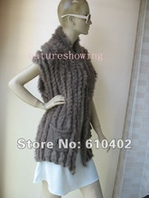 free  shipping /wholesale/Wonderful Women's rabbit fur vest /khaki