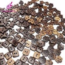 Lucia crafts 12 шт/24 шт 2 отверстия коричневый Кокосовая оболочка Швейные натуральные пуговицы Скрапбукинг Одежда DIY Аксессуары E0308