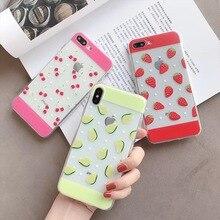 INS Korean summer fresh fruit avocado cherry phone case For iphone Xs MAX XR 6 6s