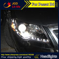 Free shipping ! Car styling LED HID Rio LED headlights Head Lamp case for VW Passat B6 2007-2011 Bi-Xenon Lens low beam