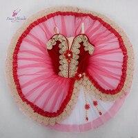 Red Velvet Bodice Classical Ballet Tutu Girl And Women Ballerina Dance Costume Professional Ballet Tutu Customer