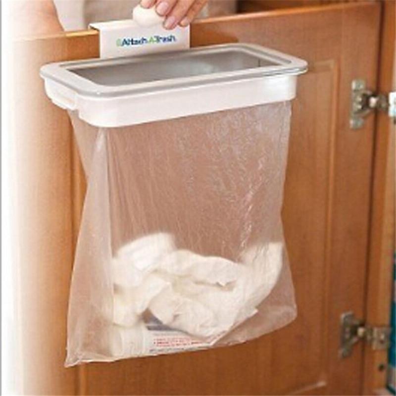 US $3.24 31% OFF|1 Set Cupboard Door Hanging Trash Storage Drawer Trash Can  Hanging Kitchen Cabinet Garbage Storage Kitchen Use PC972681-in Waste Bins  ...
