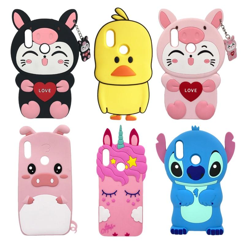 8a1224e83b2 Honor 10 Lite Phone Case For Huawei P Smart 2019 Cover 3D Stitch Unicorn  Cat Silicone Case Funda For Huawei Honor 10 Lite Case