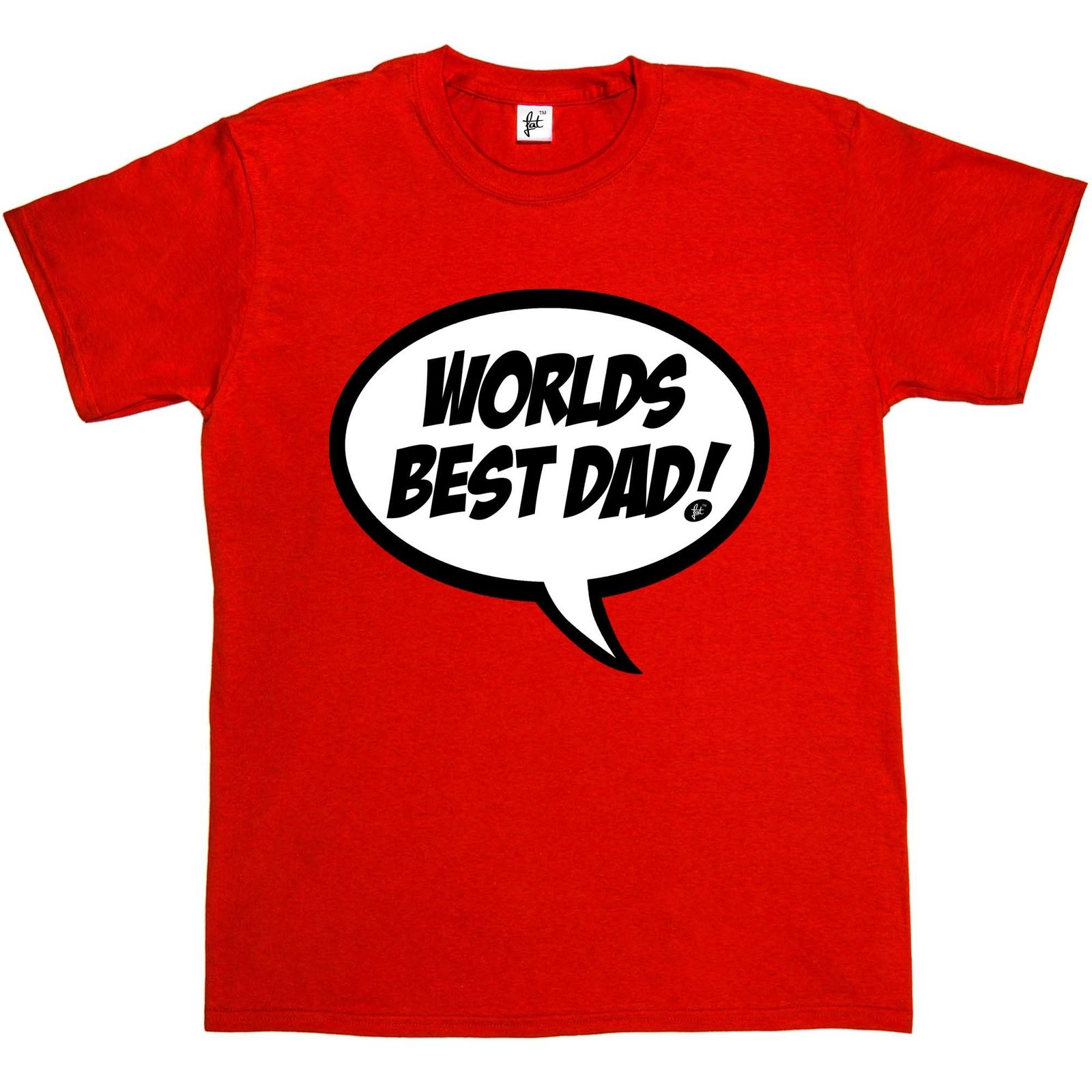 Simply Saying Worlds Best Dad Speech Bubble Fathers Day Gift Mens T-Shirt