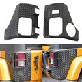 1 Pair ABS Black Body Armor Rear Corner Guard Taillight Protector Cover For 08-15 Jeep Wrangler Free Shipping