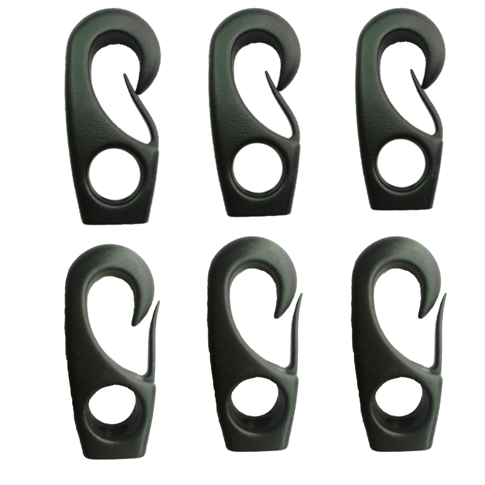 6PC Durable Naylon Canoe Kayak Bungee Rope Cord Clip Hook Shock Cord Rope Hook Clip 6 PC