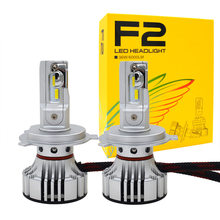 1 Set Car LED Headlight Kit F2 H4 H7 H1 H11 HB3 9005 HB4 9006 LED Bulb 72W 12000LM CSP Chips Turbo Fan 6500K Auto Headlamp Bulbs(China)