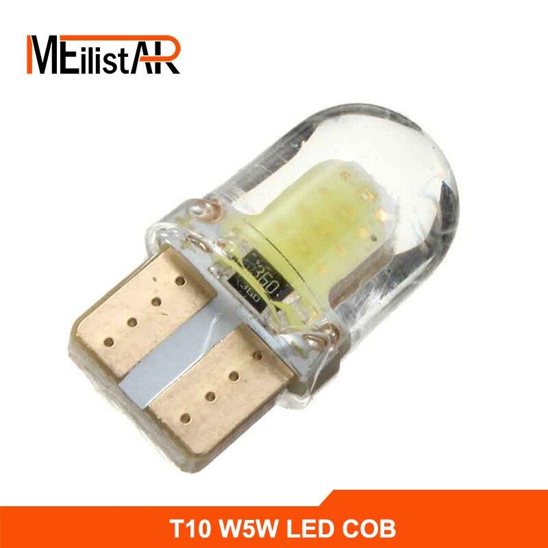 1шт/комплект Автомобильные Светодиодные лампы Т10 194 168 W5W и удара 8 SMD светодиодные кремнезема Водонепроницаемый короткие Тип силиконовый яркий Белый автомобилей светодиодные лампы