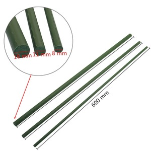 Image 2 - 農業クライミング植物サポート温室園芸柱プラスチックコーティングされた鋼管ガーデントレリス花のサポート 12 個