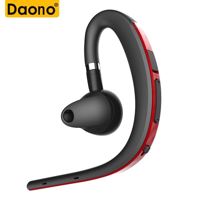 DAONO Voice Control  Bluetooth Earphone Sport Headphone Handsfree Mic Microphone For Phone Car Driver Wireless Business Headset