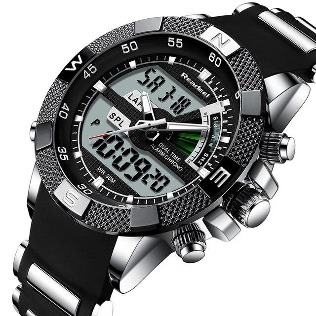 العلامة التجارية الجديدة الفاخرة Led ساعة كوارتز رجالية رقمية الجيش العسكرية الرجال الساعات الرياضية ساعة الذكور Relogio Masculino Reloj Hombre