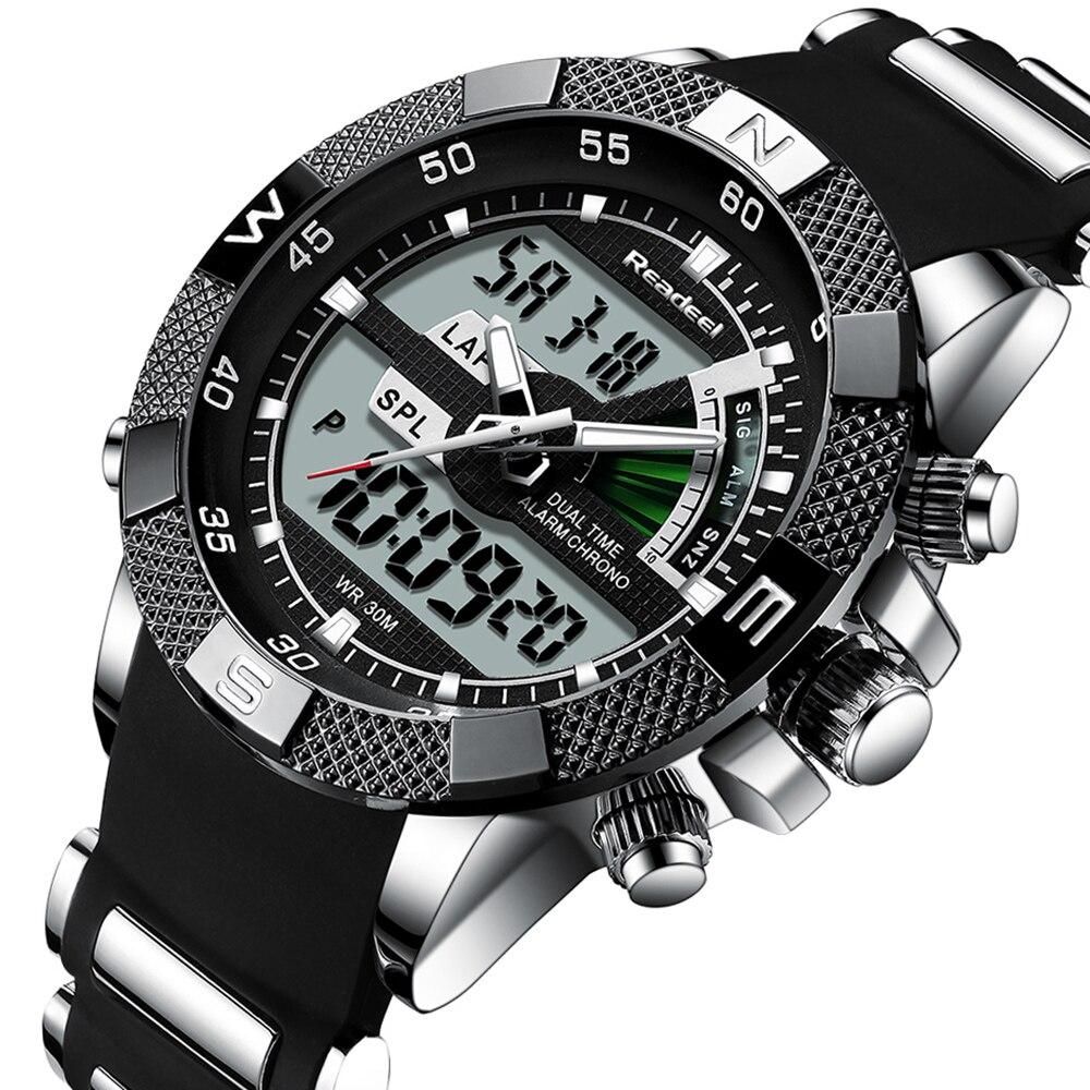 ブランド New ラグジュアリー Led クォーツメンズ腕時計デジタル陸軍軍人スポーツ時計男性レロジオの Masculino リロイ Hombre  グループ上の 腕時計 からの クォーツ時計 の中 1