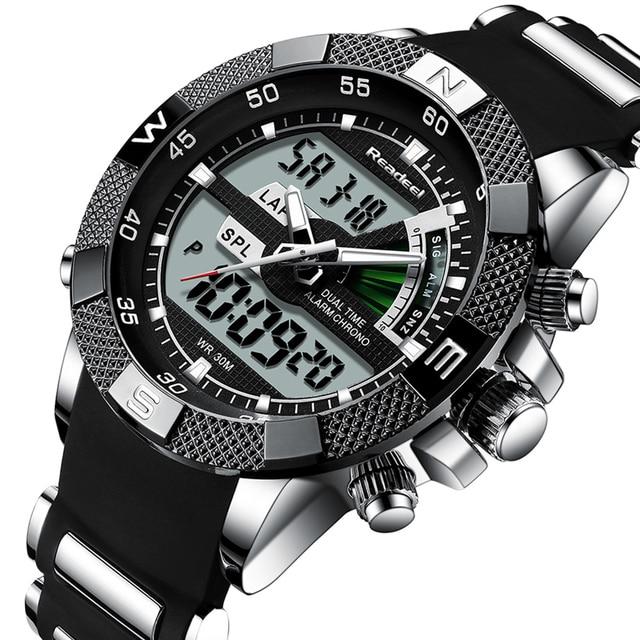 Reloj de cuarzo Led de lujo para Hombre, Reloj deportivo para Hombre, militar, militar y militar, Reloj para Hombre