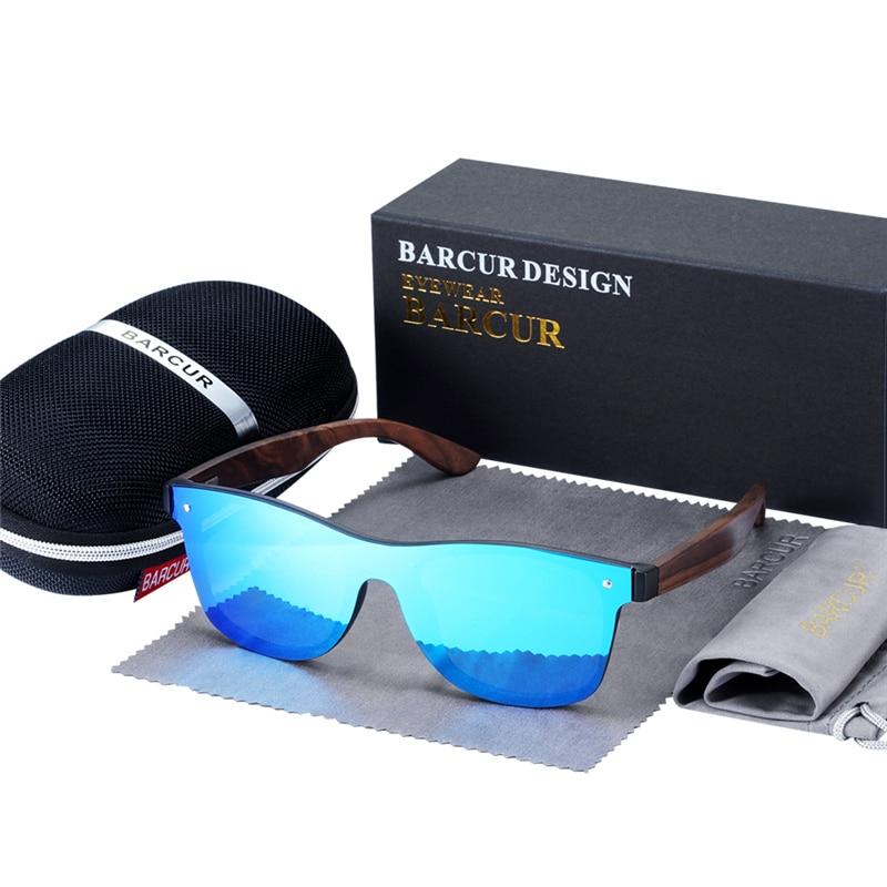 BARCUR Luxury Vintage Sun Shade Men Wooden Sunglasses UV400 Protection Fashion Square Sun glasses Women 10
