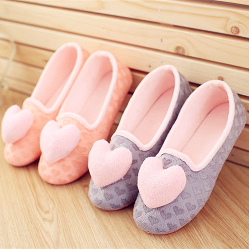 2017 New Fashion Soft Woman Shoes Love Heart-shaped Unicornio Plush Warm Home Slippers Indoor Slipper for Autumn Winter 3d minions slippers woman winter warm slippers despicable minion stewart figure shoes plush toy home slipper one size doll