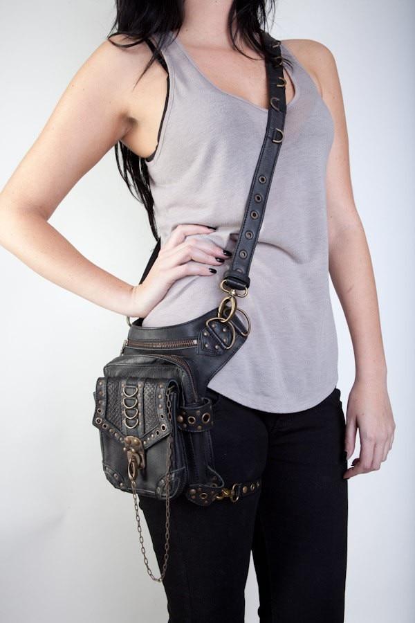 Steampunk Pink Bag Steam Punk Retro Rock Gothic Waist Pack Kvinnor - Bälten väskor - Foto 4