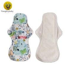 Almohadilla de tela de bambú para mamá, compresas sanitarias de bambú para mujeres y niñas, compresas menstruales estampadas, lavables, 30 unids/lote