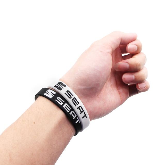 Car-Styling Hologram Bracelets Silicone Wristband Bangles for seat leon ibiza Alhambra lada niva kalina priora granta largus vaz 4