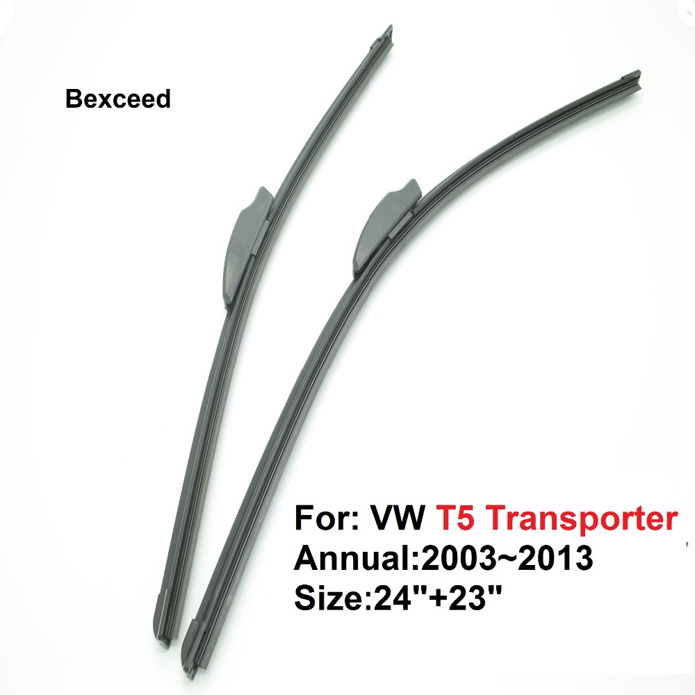 24+23 New high quality Bexceed of rubber windshield of flat rubber wiper blade For VW T5 Transporter